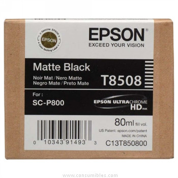 CARTUCHO DE TINTA NEGRO MATE 80 ML EPSON T8508