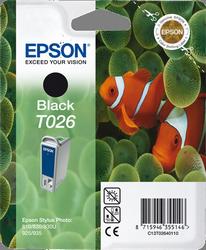 CARTUCHO DE TINTA NEGRO 16 ML EPSON T026
