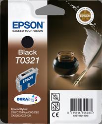 CARTUCHO DE TINTA NEGRO EPSON T0321