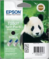 CARTUCHO DE TINTA T0501 NEGRO 30 ML PACK 2 C13S020206& C13S020208 EPSON T0501+T0501