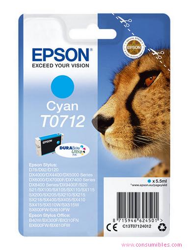 Comprar cartucho de tinta C13T07124012 de Epson online.