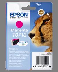EPSON CARTUCHO DE TINTA MAGENTA C13T07134012 T0713 250 PÁGINAS 5.5ML