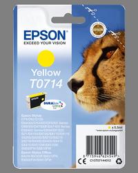 EPSON CARTUCHO DE TINTA AMARILLO C13T07144012 T0714 415 PÁGINAS 5.5ML