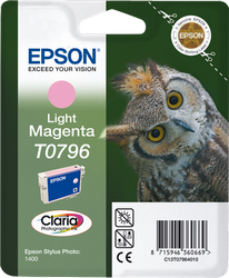 CARTUCHO DE TINTA MAGENTA CLARO EPSON T0796
