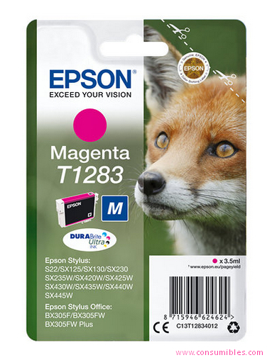 Comprar cartucho de tinta C13T12834012 de Epson online.