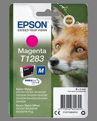 EPSON CARTUCHO DE TINTA MAGENTA C13T12834012 T1283 140 PÁGINAS 3.5ML
