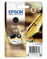 EPSON CARTUCHO DE TINTA NEGRO C13T16214012 T1621 175 PÁGINAS 5.4ML ESTANDARD