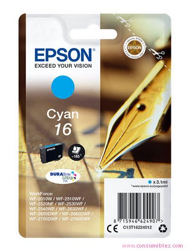 Comprar Cartucho de tinta C13T16224012 de Epson online.
