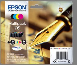 EPSON MULTIPACK NEGRO / CIAN / MAGENTA / AMARILLO C13T16264012 T1626 4 CARTUCHOS DE TINTA: T1621 + T1622 + T1623 + T1624