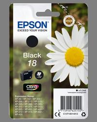 EPSON CARTUCHO INYECCION TINTA NEGRO 18 CLARIA HOME PACK 1 B