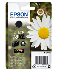 EPSON CARTUCHO INYECCION TINTA NEGRO 18XL CLARIA HOME PACK 1