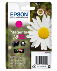 EPSON CARTUCHO INYECCION TINTA MAGENTA 18XL CLARIA HOME PACK