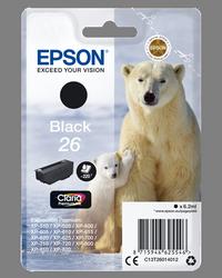 EPSON CARTUCHO INYECCION TINTA NEGRO T26 220 PGINAS BLISTER