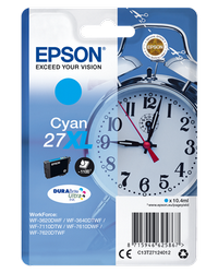 EPSON CARTUCHO TINTA CIAN 27XL 109ML WF3620/3640/7110/7610