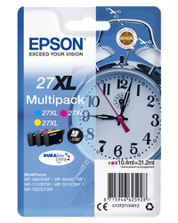 EPSON PACK 3 COLORES 27XL 109ML WF3620/3640/7110/7610