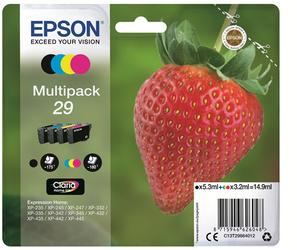 EPSON MULTIPACK NEGRO / CIAN / MAGENTA / AMARILLO C13T29864012 T2986 4 CARTUCHOS DE TINTA: T2981 + T2982 + T2983 + T2984