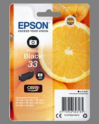 EPSON CARTUCHO DE TINTA NEGRO (FOTO) C13T33414012 T3341 4.5ML PARA APROX. 200 FOTOS C13T33414010