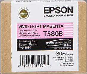 CARTUCHO DE TINTA MAGENTA VIVO CLARO 80 ML EPSON T580B