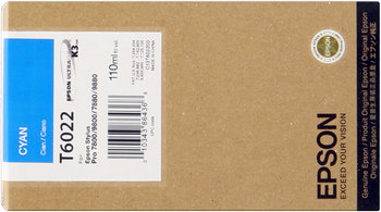 CARTUCHO DE TINTA CIAN 110 ML EPSON T6021