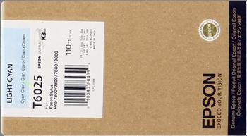CARTUCHO DE TINTA CIAN CLARO 110 ML EPSON T6025