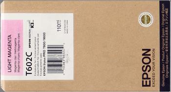 CARTUCHO DE TINTA MAGENTA CLARO 110 ML EPSON T602C