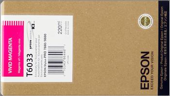 CARTUCHO DE TINTA MAGENTA VIVO 220 ML EPSON T6033