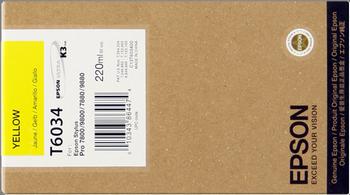 CARTUCHO DE TINTA AMARILLO 220 ML EPSON T6034