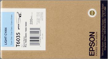 CARTUCHO DE TINTA CIAN CLARO 220 ML EPSON T6035