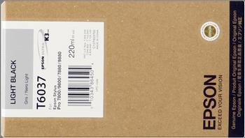 CARTUCHO DE TINTA NEGRO CLARO 220 ML EPSON T6037