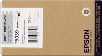 CARTUCHO DE TINTA NEGRO CLARO CLARO 220 ML EPSON T6039