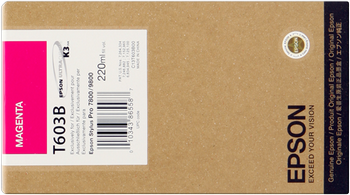 CARTUCHO DE TINTA MAGENTA 220 ML EPSON T603B