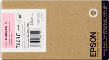 CARTUCHO DE TINTA MAGENTA CLARO 220 ML EPSON T603C