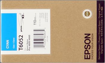 CARTUCHO DE TINTA CIAN 110 ML EPSON T6052
