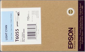CARTUCHO DE TINTA CIAN CLARO 110 ML EPSON T6055