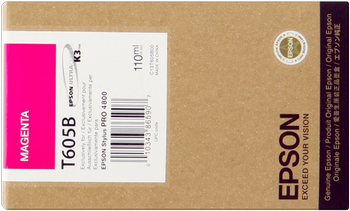 CARTUCHO DE TINTA MAGENTA 110 ML EPSON T605B