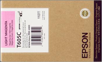 CARTUCHO DE TINTA MAGENTA CLARO 110 ML EPSON T605C