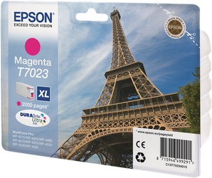 CARTUCHO DE TINTA MAGENTA XL ALTA CAPACIDAD EPSON T7023 para WorkForce Pro WP-4595DNF