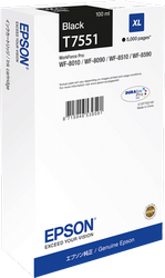 CARTUCHO DE TINTA NEGRO XL T7551 para WorkForce WF-8510DWF