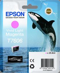 CARTUCHO DE TINTA MAGENTA CLAR0 VIVID 25.9 ML ULTRA CHROME EPSON T7606