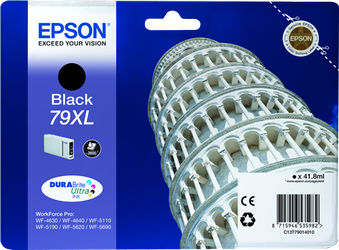 CARTUCHO DE TINTA NEGRO 41.8 ML ALTA CAPACIDAD EPSON 79XL