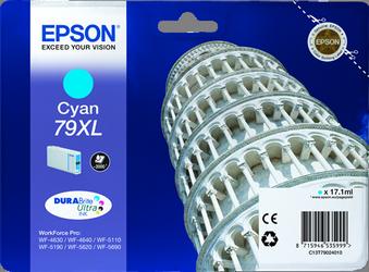 CARTUCHO DE TINTA CIAN 17.1 ML ALTA CAPACIDAD EPSON 79XL