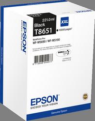 CARTUCHO DE TINTA NEGRO 55.8 ML XXL ALTA CAPACIDAD EPSON T8651