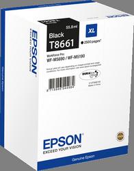 CARTUCHO DE TINTA NEGRO 55.8 ML XL ALTA CAPACIDAD EPSON T8661 para WorkForce WF-M5190DW