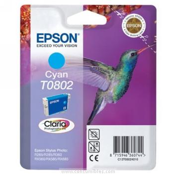 CARTUCHO DE TINTA CIAN EPSON T0802