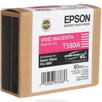 CARTUCHO DE TINTA MAGENTA VIVO 80 ML EPSON T580A