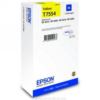 CARTUCHO DE TINTA AMARILLO 39 ML XL ALTA CAPACIDAD EPSON T7553