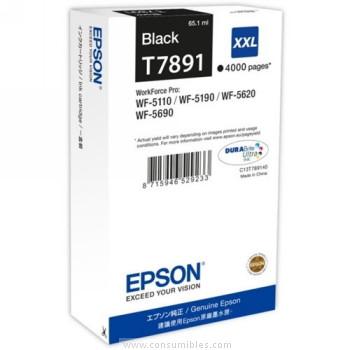 CARTUCHO DE TINTA NEGRO 65.1 ML XXL ALTA CAPACIDAD EPSON T7891
