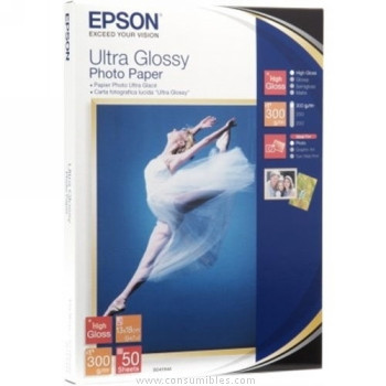ULTRA GLOSSY FOTOGRAFICO PAPER 13X18CM 50 HOJAS EPSON S041944