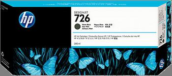 CARTUCHO DE TINTA GRAN FORMATO NEGRO MATE 300 ML HP Nº 726