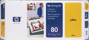 CABEZAL DE IMPRESION AMARILLO HP Nº 80
